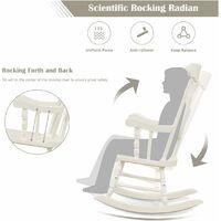 Wooden Garden Outdoor Rocking Chair Vintage Style Patio Porch Rocker Backyard