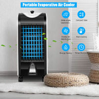 Portable Evaporative Air Cooler Large Air Conditioner With Fan & Humidifier Home