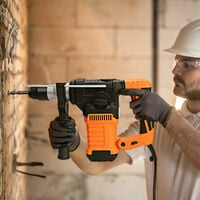4 in 1 Design Rotary Hammer Drill Powerful Electric Tool w/ 6-Speed Adjustments