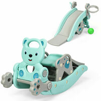 4 In 1 Children Rocking Horse Toddler Kids Playground Slide Climber W/ Games