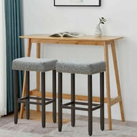 Set of 2 Saddle Bar Stools Upholstered Counter Stool Home Kitchen Dinning Chairs