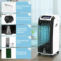 Portable Air Evaporative Cooler with Fan & Humidifier 3 Speeds Remote Control
