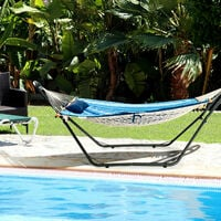Hammock Sun Lounger Bed Stand Outdoor Patio Swing Steel Frame Hanging Hooks