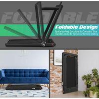 2 in 1 Folding Treadmill Electric Walking Running Machine Bluetooth LED Display