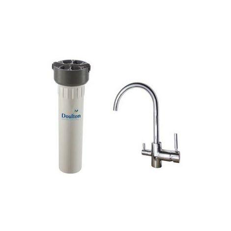 Purificateur d'eau Doulton HIP 3020 sous-évier avec robinet mitigeur 3 voies Inox brillant