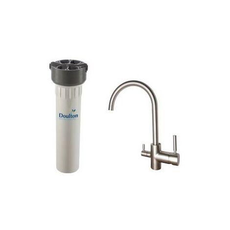 Purificateur d'eau Doulton hip 3020 et robinet mitigeur 3 voies haut brossé