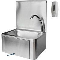 Handwaschbecken Gastro Waschbecken Edelstahl Edelstahlspüle 3 Seitige Aufkantung