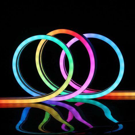 Led NEON Flex, 12x20mm, DC24V, 60Led/m, 5m, RGB, RGB, regulable - RGB