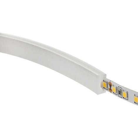 Tubo de silicona para tiras LED, 6x12mm, 1 metro