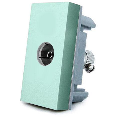 Conector TV verde para mecanismo de empotrar