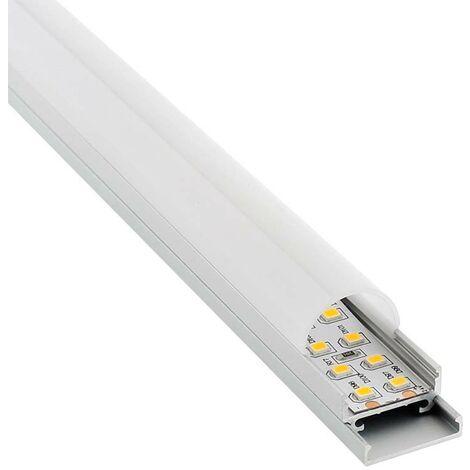 Perfil aluminio STUV para tiras LED, 1 metro