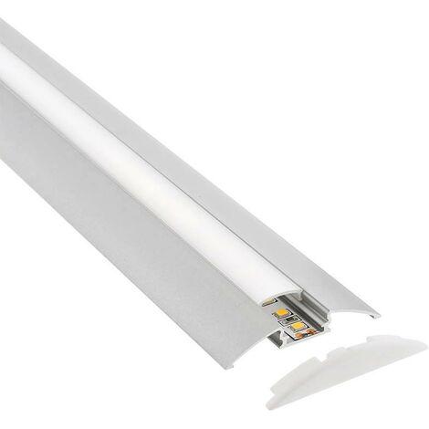KIT - Perfil aluminio TREND para tiras LED, 2 metros