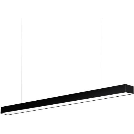 Lámpara colgante MOD SUSPEND, 30W, 150cm, negro, Blanco neutro - Blanco neutro