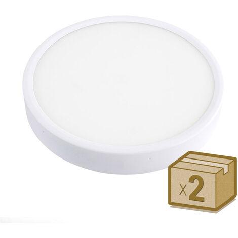 Pack 2 x Plafón Led FROSVIK 18W superficie, Blanco cálido - Blanco cálido