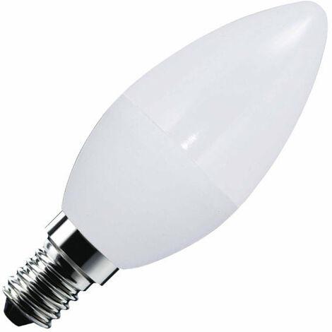 Bombilla LED Vela E14 frost 7W, Blanco frío - Blanco frío