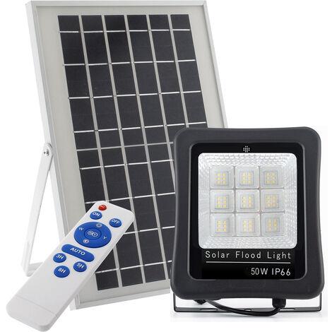 Proyector LED SOLAR KS 50W, Blanco frío - Blanco frío
