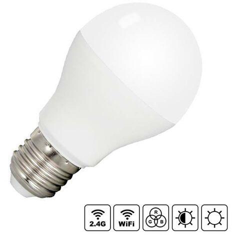 Bombilla LED WiFi E27 Bulb 6W RGB+CCT, RGB + Blanco dual, regulable - RGB + Blanco dual