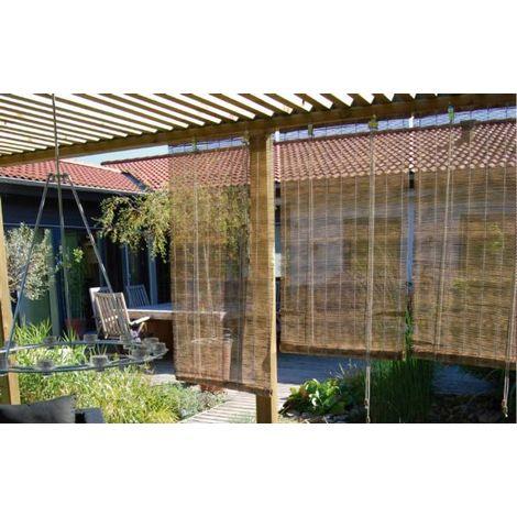 Estor enrollable de bambú natural - talla 90x175 cm castaño