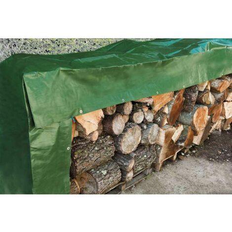 Bâche à bois 240 g/m2 verte Werkapro 1,5 x 6 m
