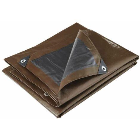 Bâche professionnelle marron 350g/m2 Werkapro 3 x 5 m
