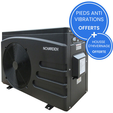 Pompe à chaleur de piscine NOVARDEN NSH60i avec technologie Inverter - Noir