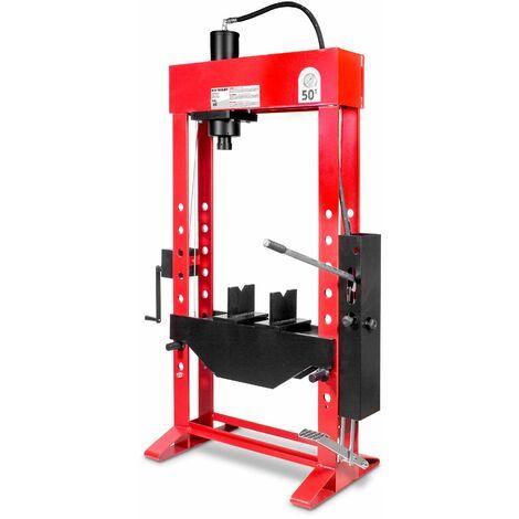 Presse hydraulique d'atelier manuelle 50 t MW-Tools CATOMA50T