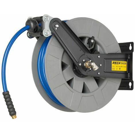 Enrouleur tuyau air/eau 20m - 10mm/12,5mm avec tuyau KPU Zeca 8424