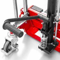 Mini gerbeur manuel à fourches levée rapide 400 kg 1500 mm MW-Tools MHT400