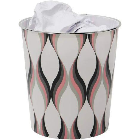Small Spiral Waste Paper Bin, 24.5cm x 26.5cm approx