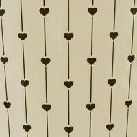 Heart Cream Waste Paper Bin,27 x 25cm approx