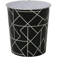 Linear Black Waste Paper Bin,27 x 25cm approx