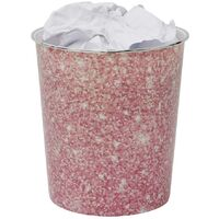 Small Pink Sparkle Waste Paper Bin, 24.5cm x 26.5cm approx