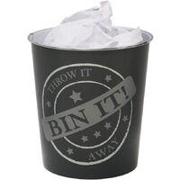 Small Bin It Waste Paper Bin, 24.5cm x 26.5cm approx