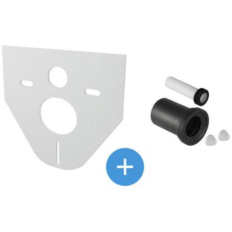 Geberit Set jeu de manchettes pour cuvette suspendue + isolation phonique Alca pour WC et bidets suspendus (152.426.46.1-SET)