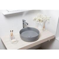 Swiss Aqua Technologies Vasque à poser Infinitio 39 x 39 x 12 cm sans trop-plein, gris mat (SATINF3939LGRM)