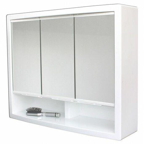 Armoire de toilette - Modèle Le Discret - 51cm x 62 cm (HxL) - Blanc