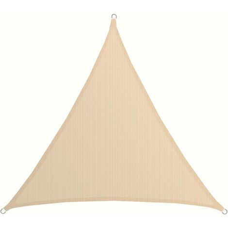 Toldo UV HDPE 2x2x2 Vela de Protección Solar Triangular Techo Jardín Beige