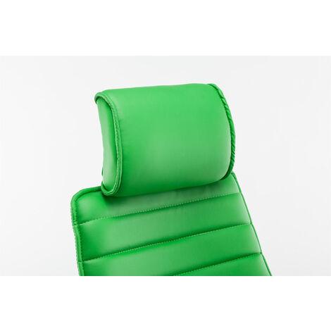 Poltrona Da Ufficio Rako In Similpelle Verde
