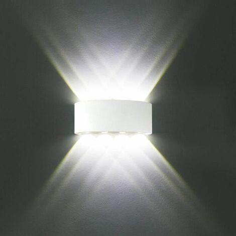 Appliques Murales Interieur LED Lampe 8w étanche Moderne pour Chambre Maison Couloir Salon ( Blanc Froid )