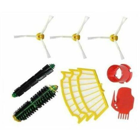 Kit Extracteur Brosse +3 Garde Filtre +3 Brosse Latérale Pour iRobot Roomba Série 500