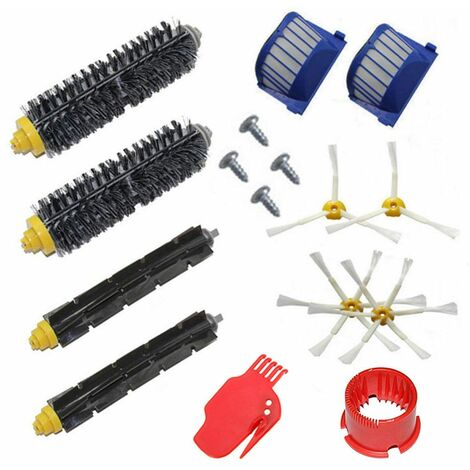 Kit de pièces de rechange pour aspirateur, Accessoire pour Irobot Roomba Série 600 528 585 595 620 630 650 660 670 Robot aspirateur