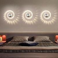 Applique Murale Interieur LED Effet Moderne 3W Blanc Chaud en Aluminium Lampe de Mur Decorative Pour Chambre Enfant Couloir Hôtel Restaurant Cuisine Salle à Manger