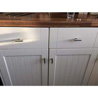 10 x Ø12 mm T- Bar Bâton Poignée de cuisine Meuble Porte d'armoire en acier inoxydable Boutons de tiroir, Length:50mm