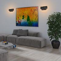 24W LED Appliques Murales Interieur Noir Simple Design Murale Applique pour Couloir Escalier Salon Chambre ( Lumière Blanc chaud )
