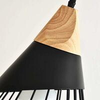 Rétro Metal Suspension en Métal Cage E27 Eclairage de Plafond , Industrielle Lustre Lampe Vintage Pendante Lumière Plafonnier Noir