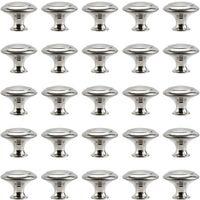 Bouton de Meuble Cuisine Poignées Cabinet Acier Inox Portes Coupe Décoration Porte Cabinet Placard Tiroir Armoire(30PCS) - Transparent