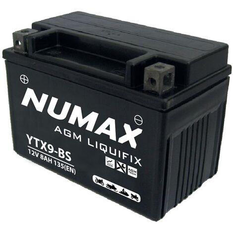 Batterie moto Numax Premium AGM YTX9-BS 12V 8Ah 135A