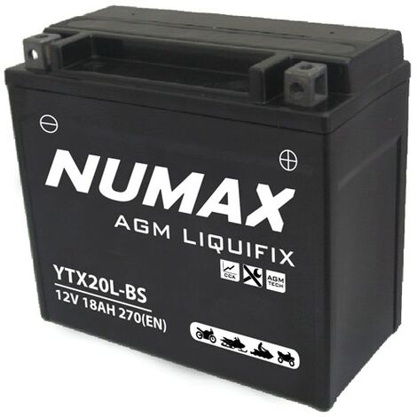 Batterie moto Numax Premium Numax Scellé AGM YTX20L-BS SLA 12V 18Ah 270A