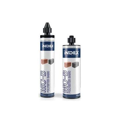 Cartouche de Scellement chimique résine Polyester basique MO-B + 1 canule offerte Dimensions (ml) 410 ml