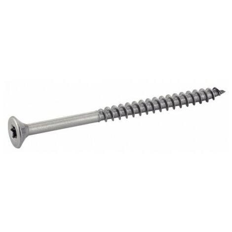 Vis 5x60mm Inox A2 Classic Tête Torx pour Terrasse + 1 embout offert Conditionnement Boîte de 200 Vis
